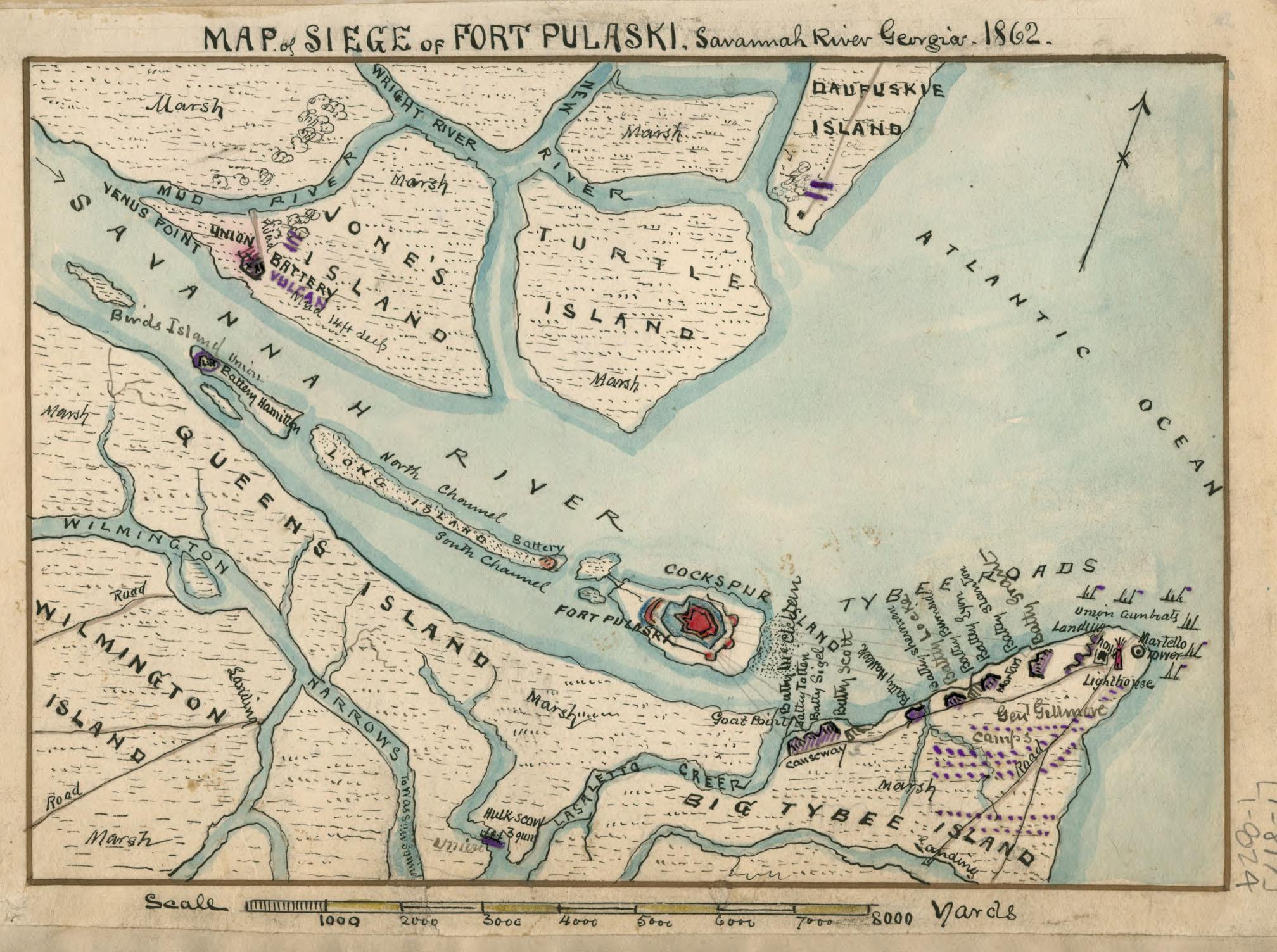 Savannah In The Civil War - Georgia map savannah river