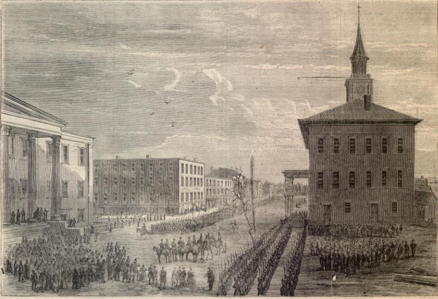 Union army enters Savannah